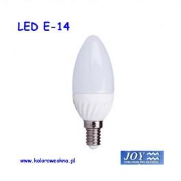 Żarówka LED E14 6W 3000K 470lm KBI świeczka