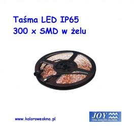 Taśma 300 x LED IP65 5mb Kolor żółty